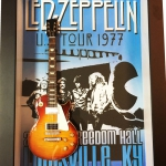 Quadro Jimmy Page com Mini Guitarra
