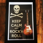 Quadro Kepp Calm and Rock and Roll