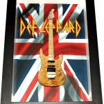 Quadro Phil Collen com Mini Guitarra