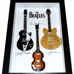 Quadro The Beatles com Mini Guitarras