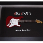 Quadro Mark Knopfler com Mini Guitarra